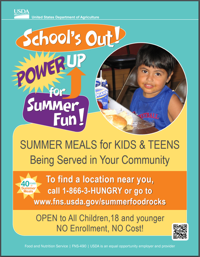 SUMMER MEALS for KIDS & TEENS!