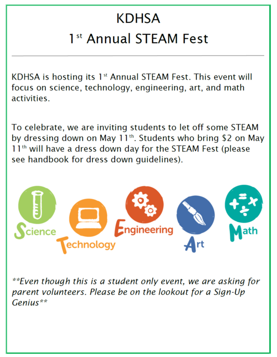 KDHSA 1st Annual STEAM Fest