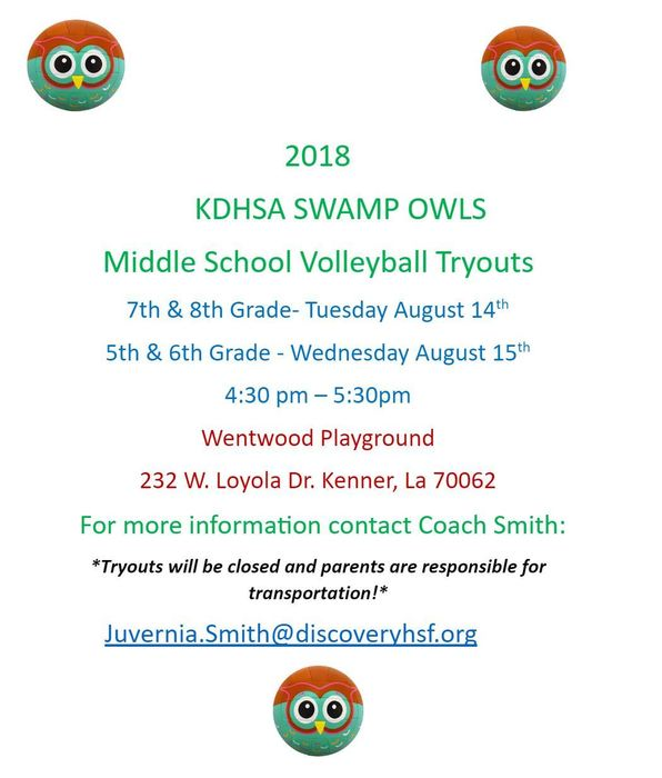 Volleyball Tryouts 2018