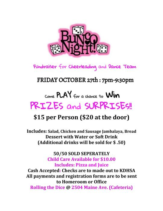 Bunco Flyer