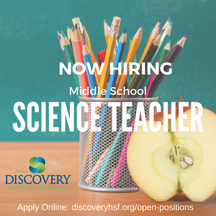 MS Science Teacher Open Position