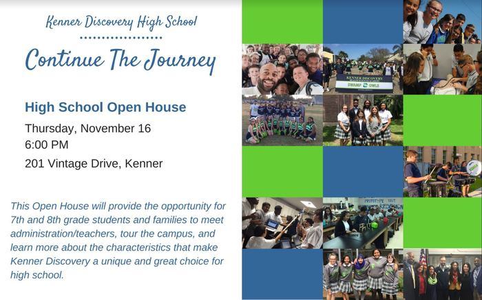 Kenner Discovery High School Open House